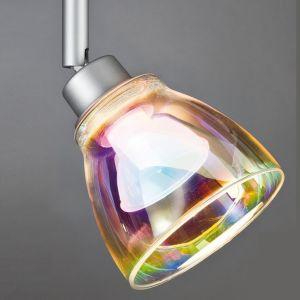 Deko-Glasschirm  -  Glas Dichroic - Regenbogenfarben - Zum  U-Rail-System - Nur der Glasschirm