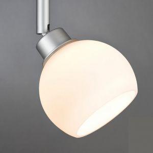 Deko-Glasschirm  -  Opalglas Weiß matt - Zum  U-Rail-System - Nur der Glasschirm