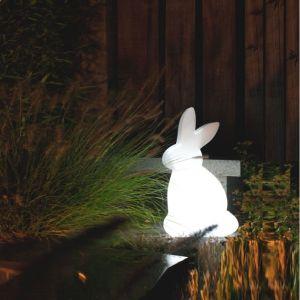 Dekoleuchte Rabbit in weiß
