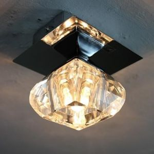 LHG Dekorative Deckenleuchte mit Kristallglas
