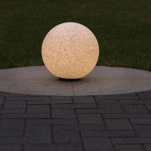 LHG Dekorative Kugelleuchte in Granit-Optik, Ø 30cm inkl. 6 Watt LED