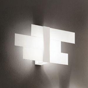 Dekorative Wand-/Deckenleuchte in weiß 1x 60 Watt, weiß