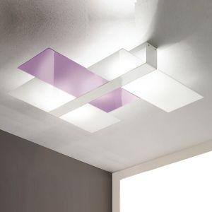 Dekorative Wand-/Deckenleuchte in Weiß 3x 60 Watt, weiß
