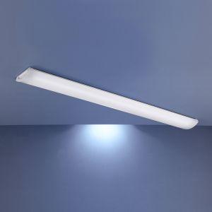 Dezente Bürodeckenleuchte in 2 Längen erhältlich - pulverbeschichtet in Weiß - für Leuchtstoffröhren geeignet