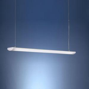 Dezente Büroleuchte in 2 Längen erhältlich - pulverbeschichtet in Weiß - für Leuchtstoffröhren geeignet