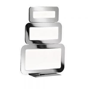 Dimmbare LED Tischleuchte Saga 3flg Chrom