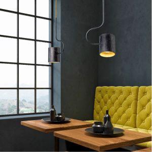Domus Design-Pendelleuchte Bocal, 45° drehbar, Holz Schwarzeiche