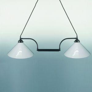 Doppelpendelleuchte in braun - verschiedene Gläser wählbar