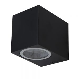 LHG Downlight LED-Außenwandstrahler schwarz+ GU10 LED 5 W
