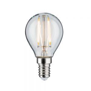 E14 D45 LED Tropfen klar 4,5W 2700K, 470lm Länge 78mm