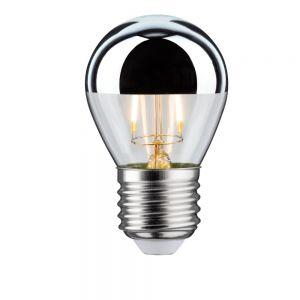 E27 D45 LED Tropfen Kopfspiegel  2,5W 2700K - Kopfverspiegelt silber Filament