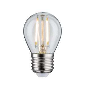 E27 D45 LED Tropfen klar 4,5W 2700K, 470lm Länge 83mm