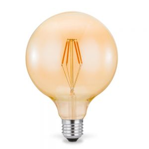 E27 Globe125 LED Filament Leuchtmittel 4W 2700K Amberglas