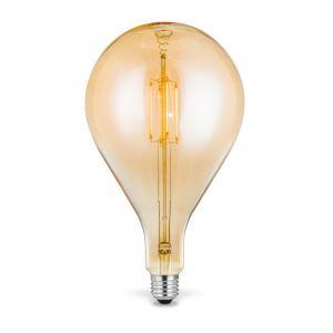 E27 LED Filament Riesentropfen 4W 2700K Amberglas H 29cm