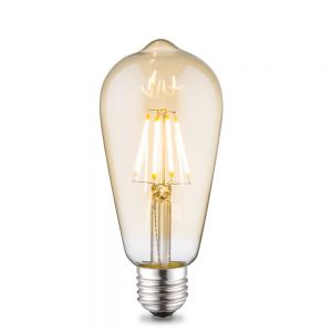 E27 4W LED Filament  Edison Design Amber H 14cm