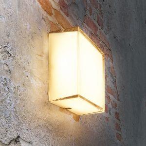 Echtglas LED Outdoor Wandleuchte