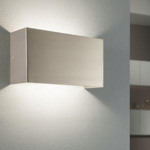 Eckige Edelstahl LED Wandleuchte