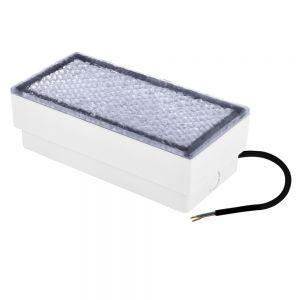 Eckige LED-Leuchte für den Einbau in gepflasterte Böden