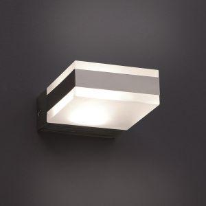 Eckige LED-Wandleuchte mit indirektem Lichtaustritt