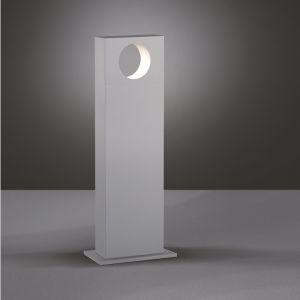 Eckige LED-Wegeleuchte Look in Silbergrau - 6W LED