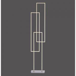 Eckige Q®-Leuchte ZigBee Smarthome Stehleuchte Q-Inigo inkl. Fernbedienung, LED 3x 19W 160 cm Hoch