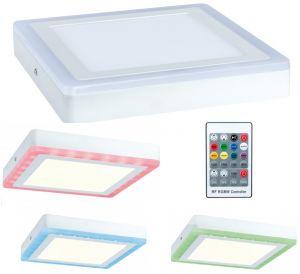 Eckiges LED Aufbaupanel Sol mit Fernbedienung