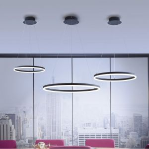 Edle LED Ring Pendelleuchte, rund aus Metall & Acryl, Simply Dim Funktion, D: 40cm , 50cm oder 80cm, sehr hell