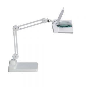 Effektive Energiespar-Lupenleuchte - Standfuss - Weiss