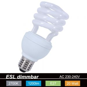 Energiespar Spirale dimmbar E27 20W