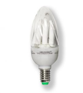 Energiesparlampe E14 Ultra Compakt Candle 9W 405Lumen