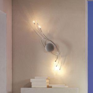 Design Wandleuchte Spin, in Chrom matt / Edelstahl poliert silber, Chrom matt/poliert