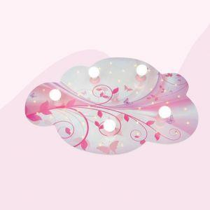 Farbenfrohe Deckenleuchte mit Schlummerlichtfunktion, rosa/weiß rosa