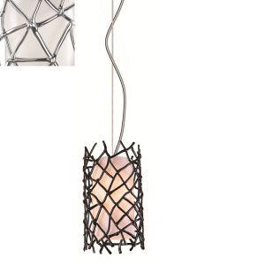 Fazinierende Pendelleuchte im Designerstil - Kunststoff chrom