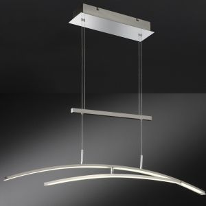 Filigrane LED-Pendelleuchte Mikado in Nickel-matt