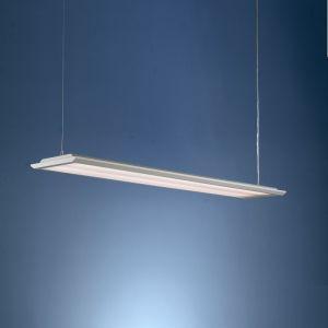 Flache Büroleuchte in 2 Längen erhältlich - mit Mikroprisma-Diffusor - für Leuchtstoffröhren geeignet
