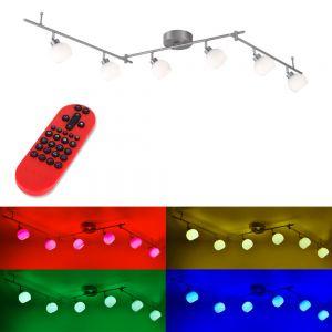 6 fl.LED Deckenbalken Lola Lotta - RGB, CCT und Fernbedienung