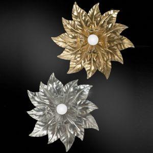 Florentiner Deckenleuchte 1-flammig - Eisen - Blattgold oder Blattsilber