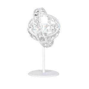 Funkelnde Tischleuchte mit Kristallglas - Höhe 28cm