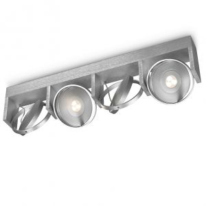Funktionelle LED-Deckenleuchte - 4-flammig - Aluminium - Schwenkbare Spots
