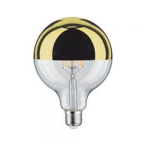 G125 LED 5W Kopfspiegel Gold Globe125 E27 5W 2700K 520lm