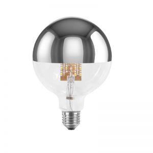 G125 LED,  9 Watt  E27 Spiegelkopf silber, dimmbar