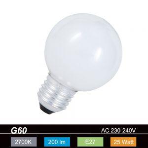 G60 Globe 60mm E27 opal weiß 25W