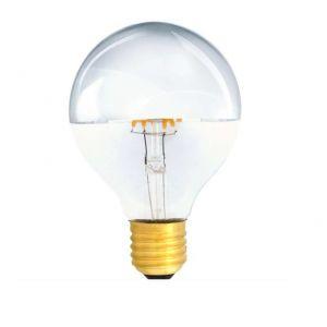 G80 E27 LED Filament Kopfverspiegelt Silber 4W