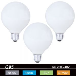 LHG G95 Globe E27 opal 40W 3er Set