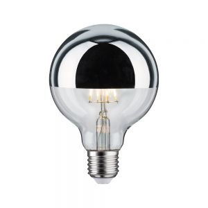 G95 LED 5W Kopfspiegel Silber Globe95 E27 5W, 2700K 420lm