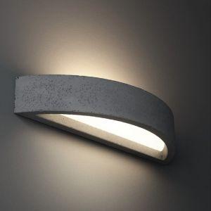 Gips Wandleuchte Omega60, indirektes Licht