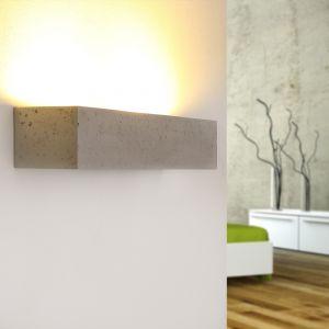 Gipswandleuchte Korytko50 in Beton-Optik in dunkel betongrau/dunkelgrau