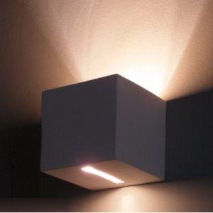 Gipswandleuchte, modern, Lichtaustritt asymmetrisch 1x 60 Watt, Lichtaustritt asymmetrisch