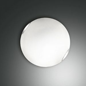 Glas-Deckenleuchte weiß, 30 cm 1x 60 Watt, 30,00 cm