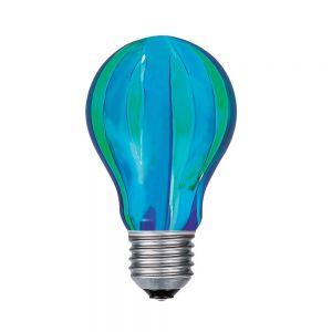 Glühlampe AGL E27 40W grün/blau längs gestreift
